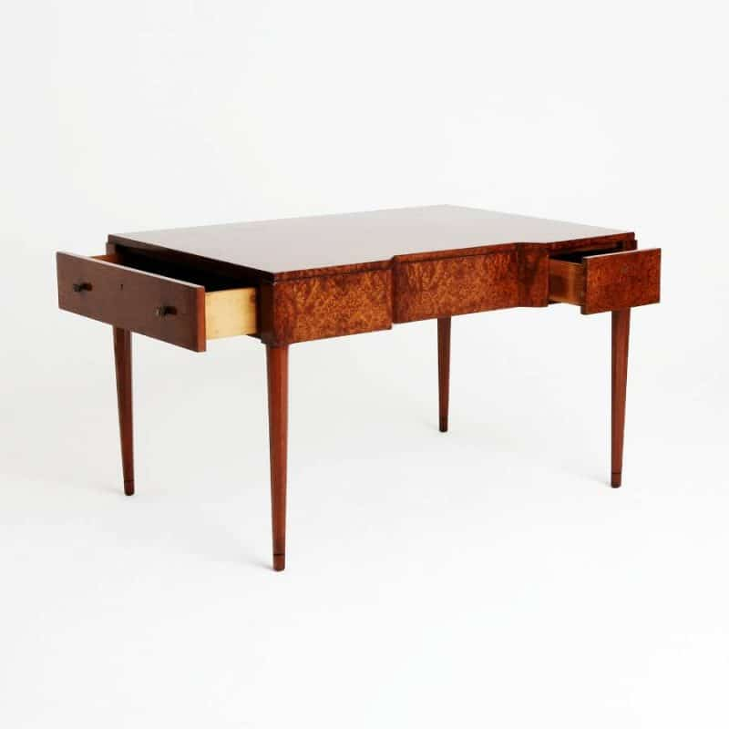 1930s French amboyna writing table