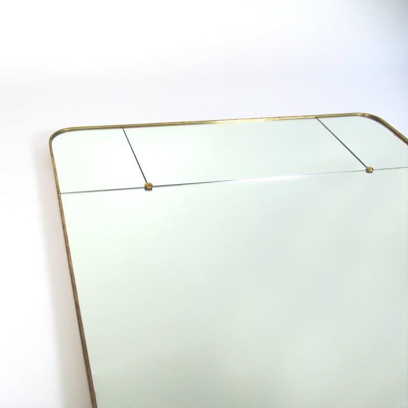 1950s Italian brass framed mirror