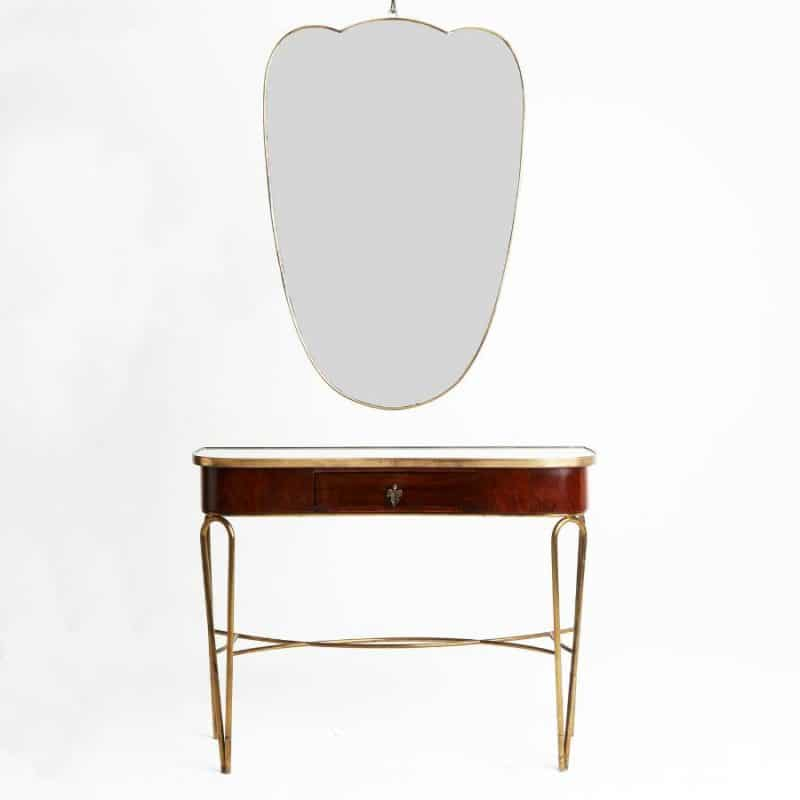 1950s Italian console and mirror attributed to Paolo Butta