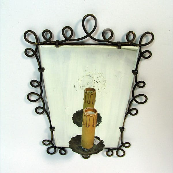 1950s Italian mirrored sconces