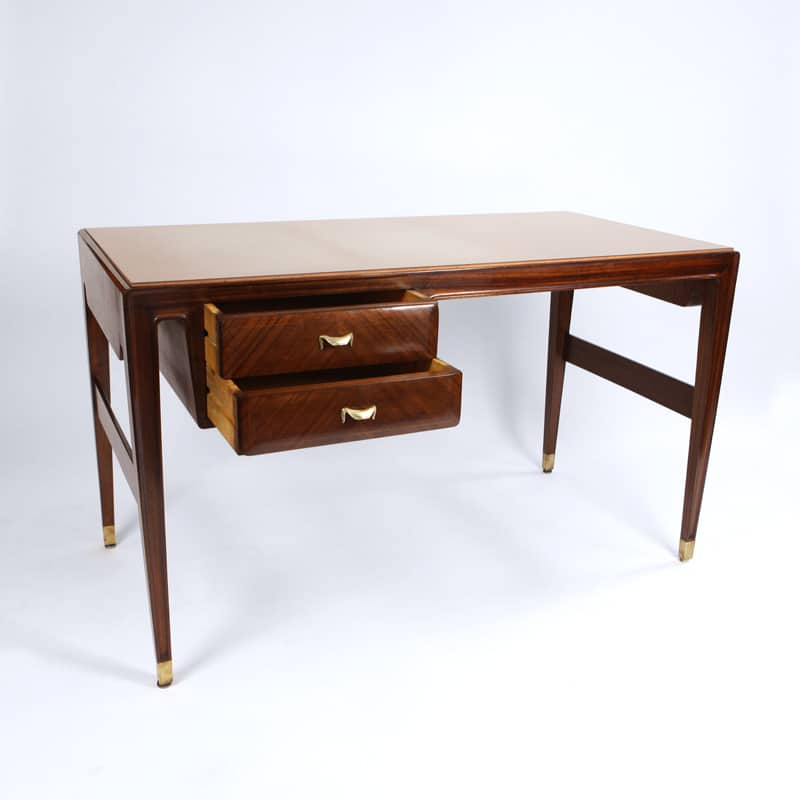 1950s Italian Rosewood desk attributed to Paulo Buffa