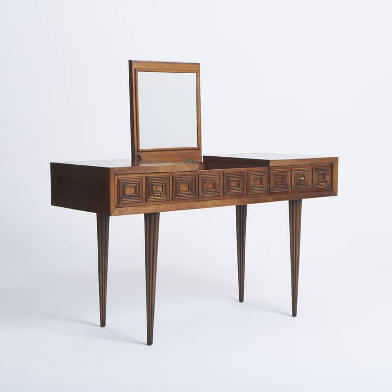 1950s Italian Walnut Dressing Table