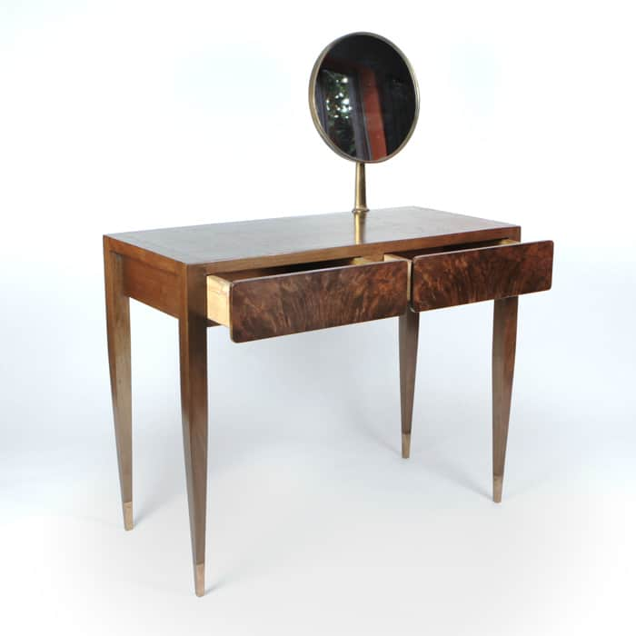 1950s Italian walnut dressing table attributed to Gio Ponti
