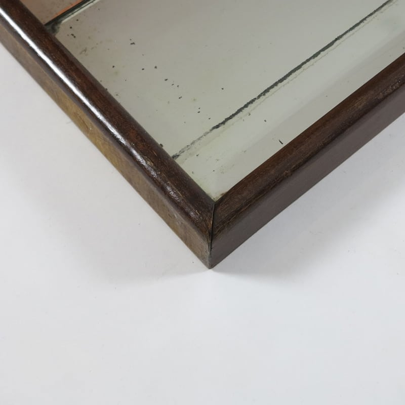 1950s Italian wood framed mirror