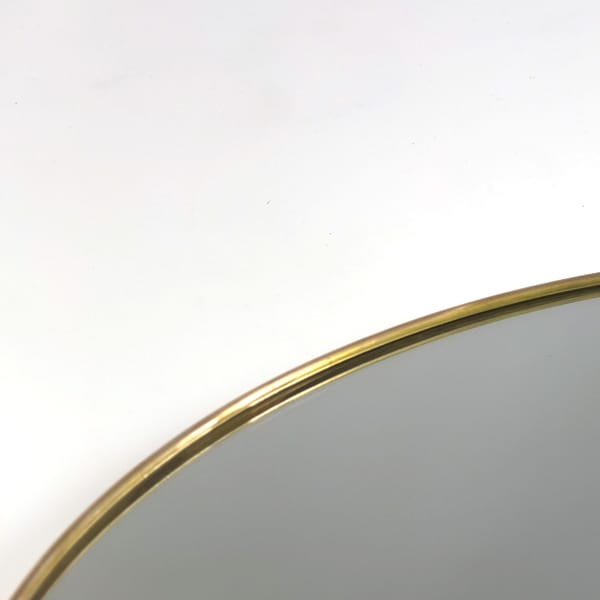 1960s Italian brass framed mirror - 170 cm