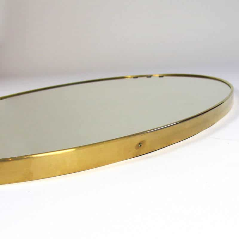 1960s Italian brass framed mirror