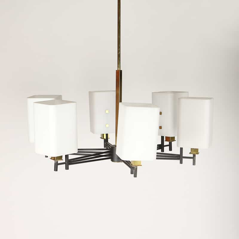 1960s Italian chandelier attributed to Stil Novo