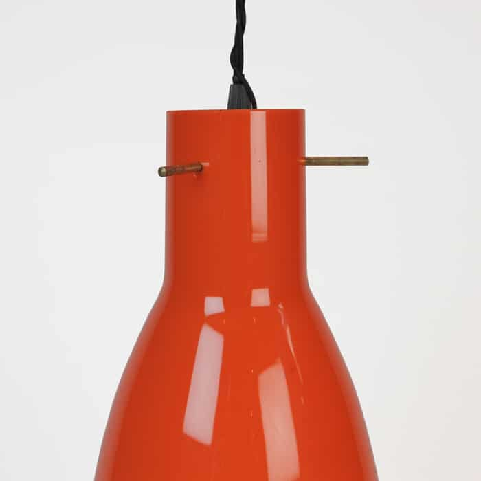 1960s Italian glass light fitting