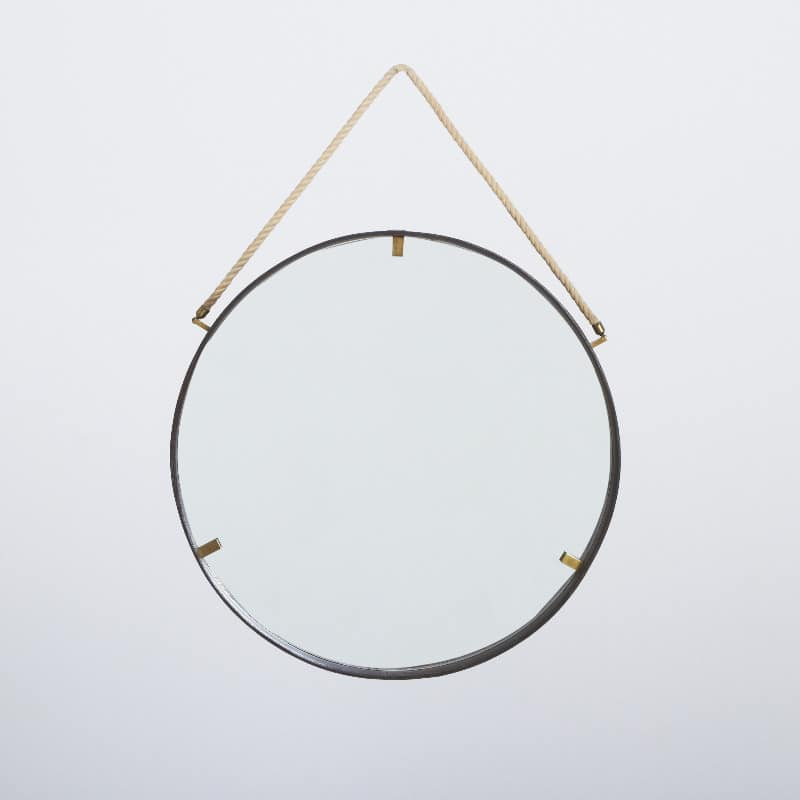 1960s Italian Leather Framed Mirror