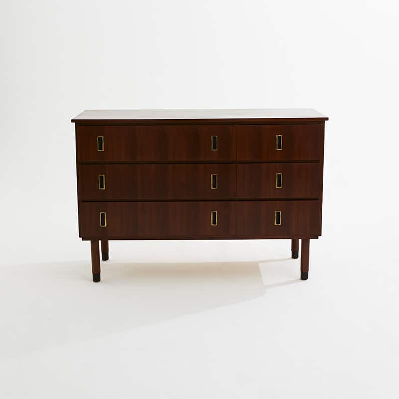 1960s Italian mahogany chest of drawers