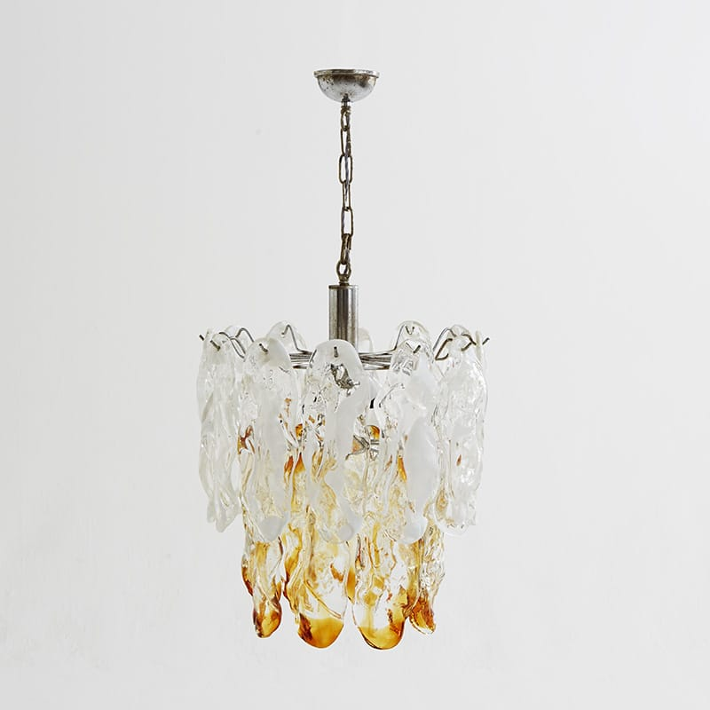 1960s Italian chandelier attrib to Mazzega