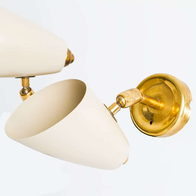 1960s Italian pair of wall lights