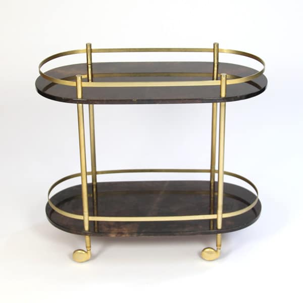 1960s Italian parchment trolley