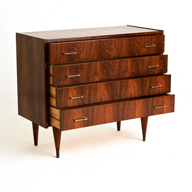 1970s French mahogany chest of drawers