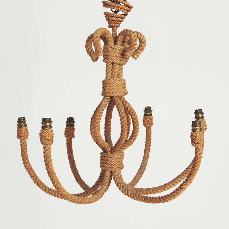 1970s French Rope Chandelier