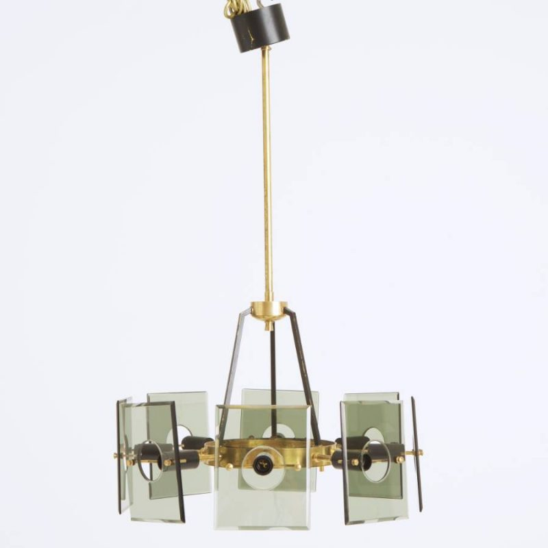 1960s Italian Ceiling Light attr to Cristal Arte