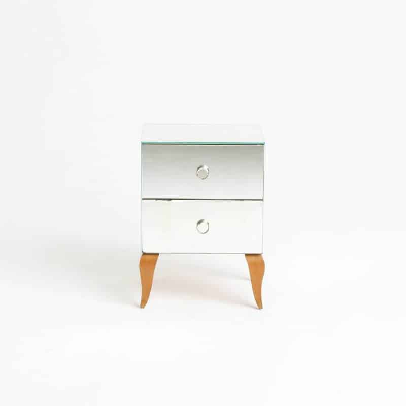 1970s Italian mirrored bedside tables