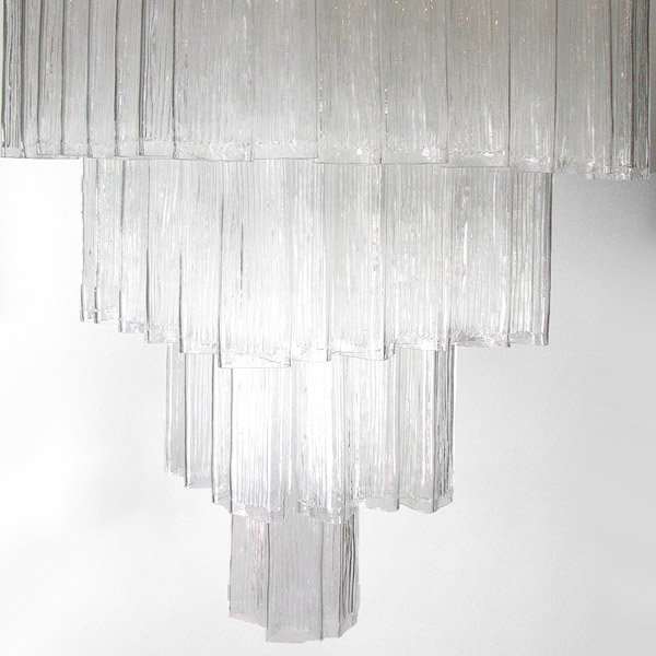 A 1960s Italian chandelier attributed to Venini