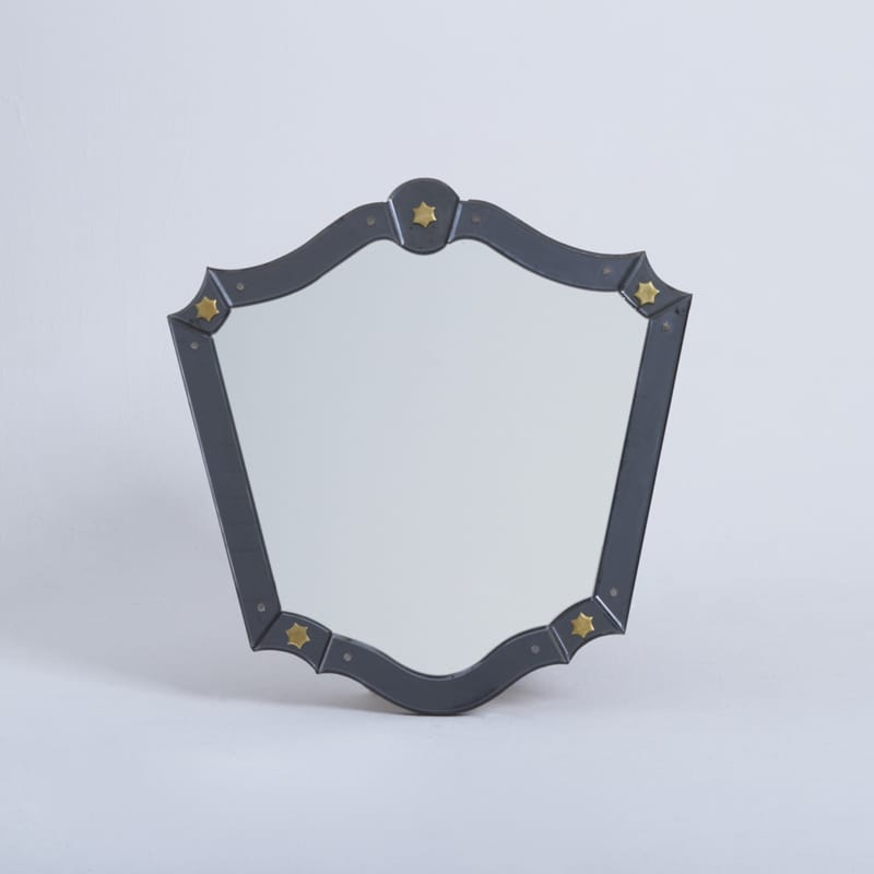 French Mirror attributed to Jacques Adnet