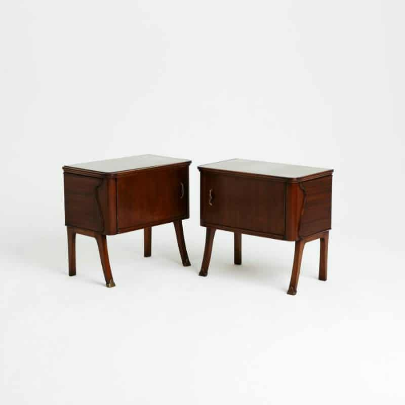 Pair 1940s Italian Bedside Tables