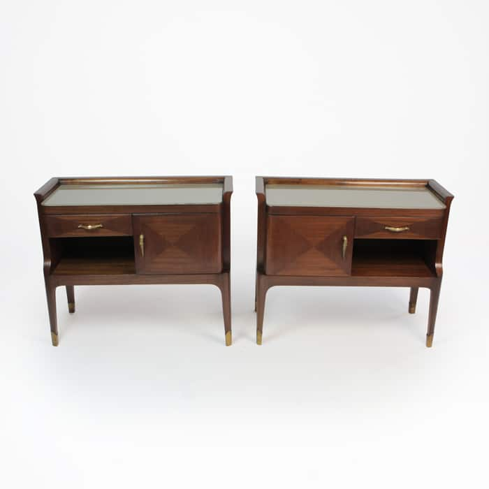 Pair 1950s Italian beside cabinets