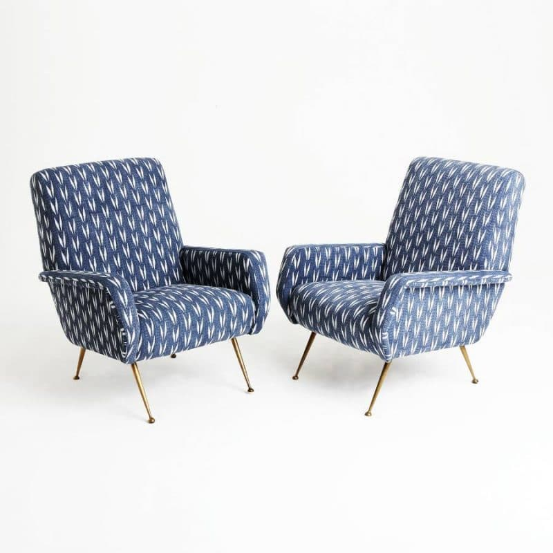 Pair 1960s Italian Chairs