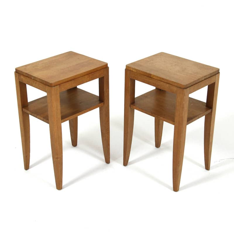 Pair of 1940's French Oak Tables
