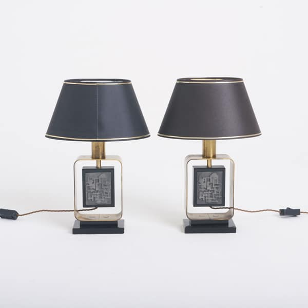Pair of 1950s French Lamps