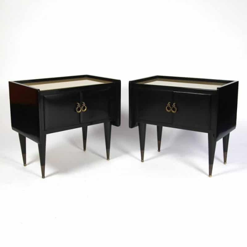 Pair of 1950s Italian Bedside Tables