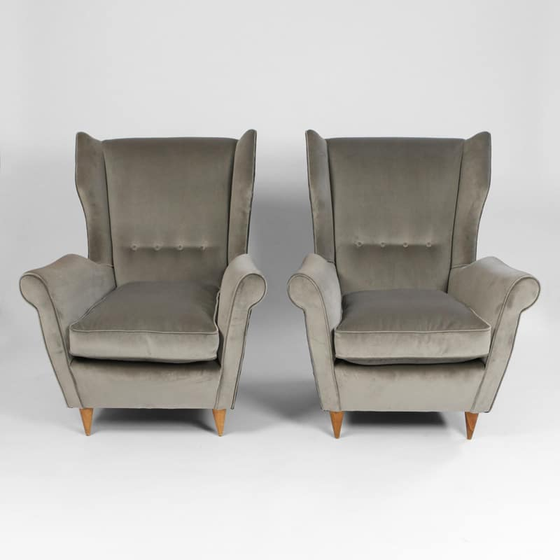 Pair of 1950s Italian chairs