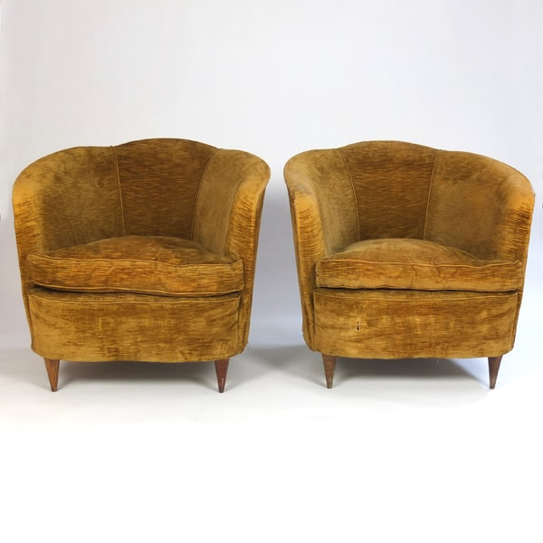 Pair of 1950s Italian chairs attributed to Gio Ponti