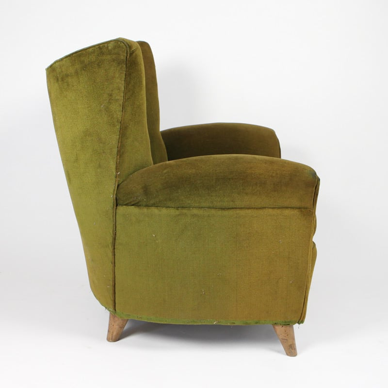 Pair of 1950s Italian chairs attributed to Paulo Buffa