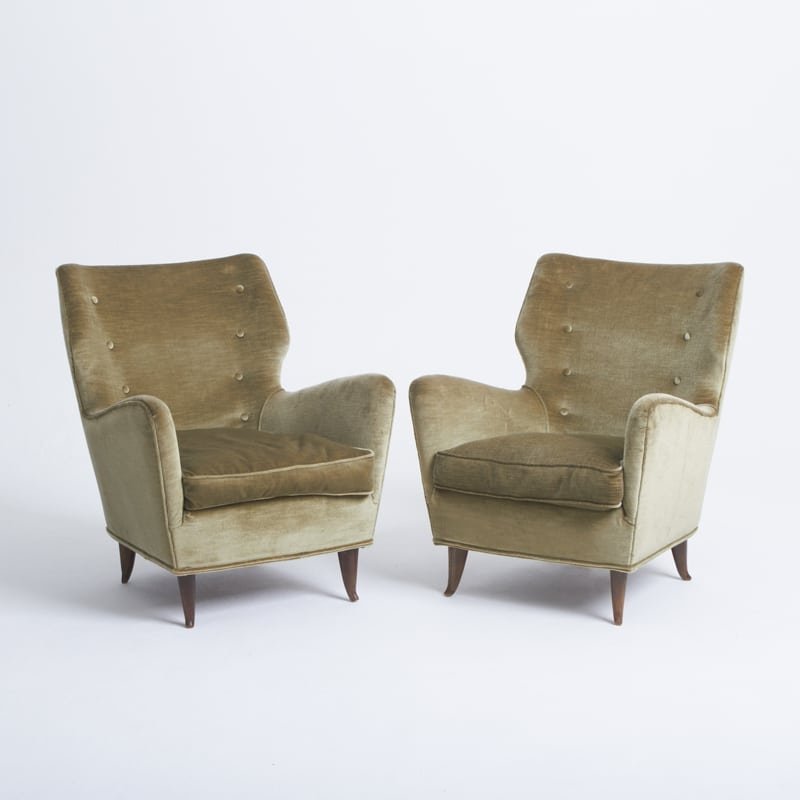 Pair of 1950s Italian Chairs Designed by Gio Ponti