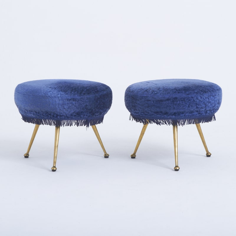 Pair of 1960s Italian Foot Stools