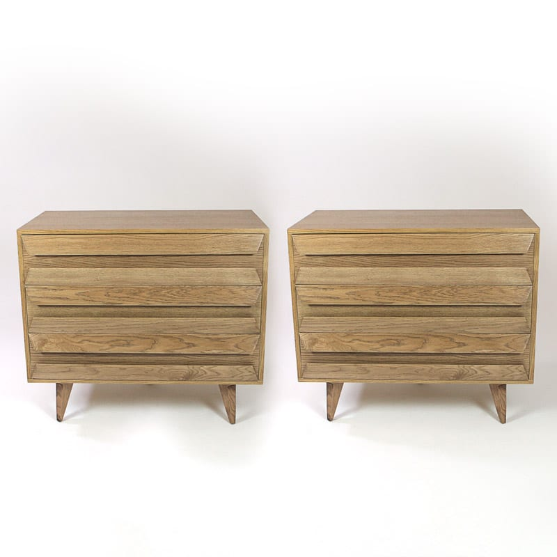 Pair of 1960s Italian oak chests of drawers
