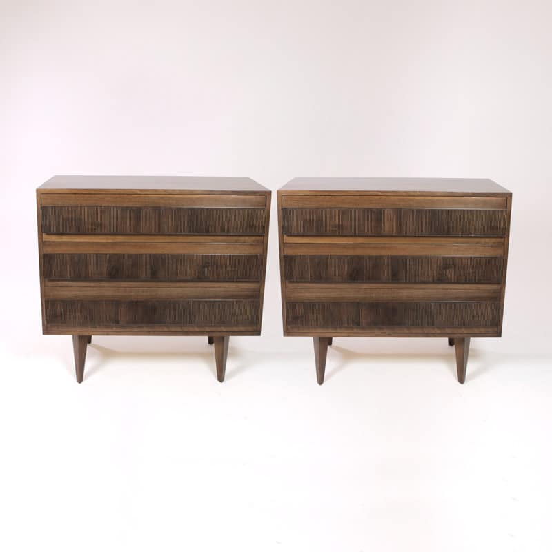 Pair of 1960s Italian walnut chests of drawers