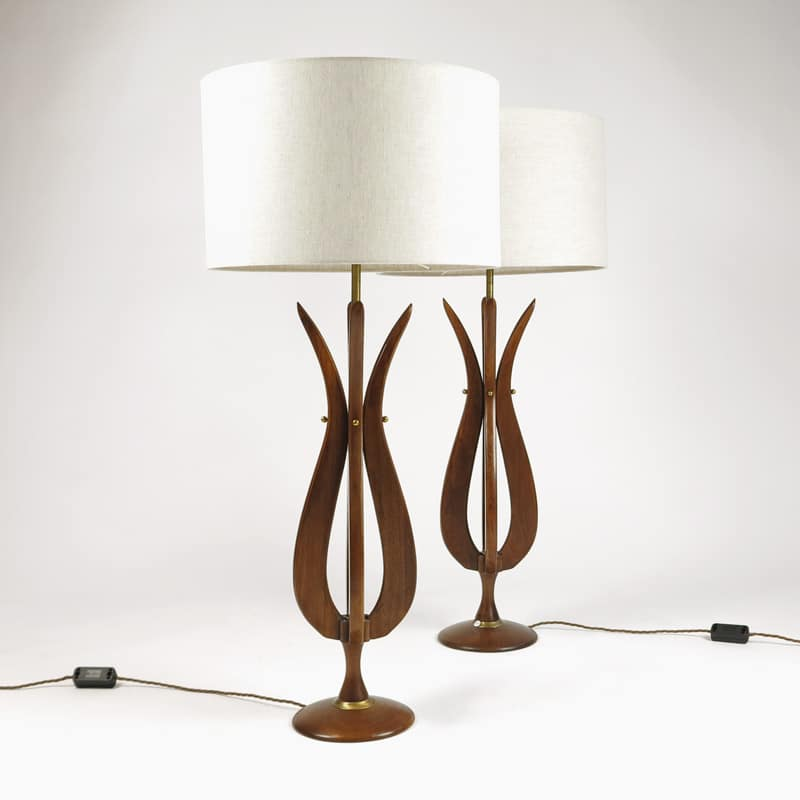 Pair of 1970s American table lamps