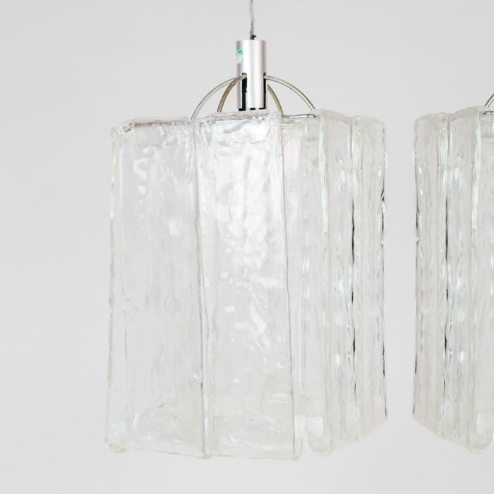 Pair of Mazzega 1960s chandelier