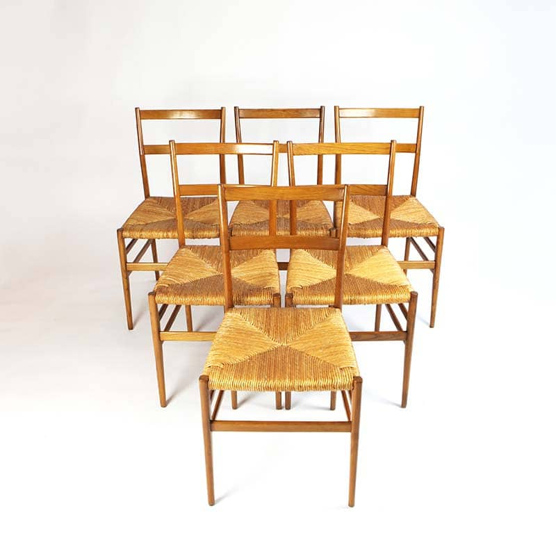Set of six 1960s Italian chairs designed by Gio Ponti