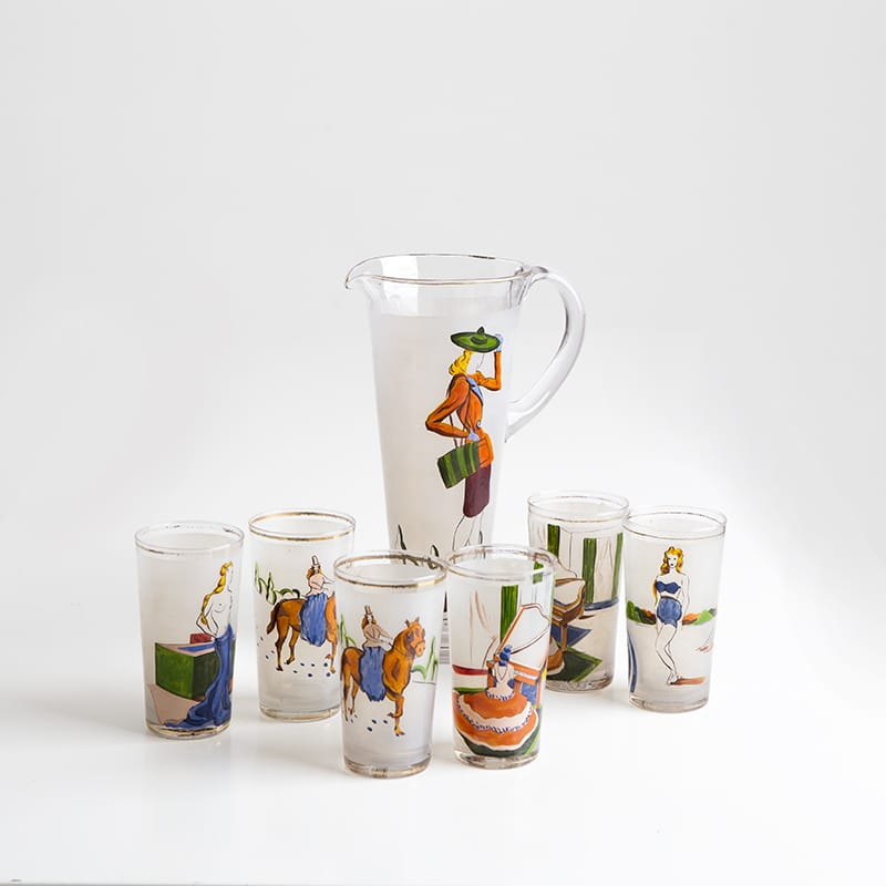 1950s Italian Drinks Set