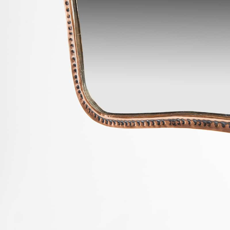 1950s Italian mirror - copper frame
