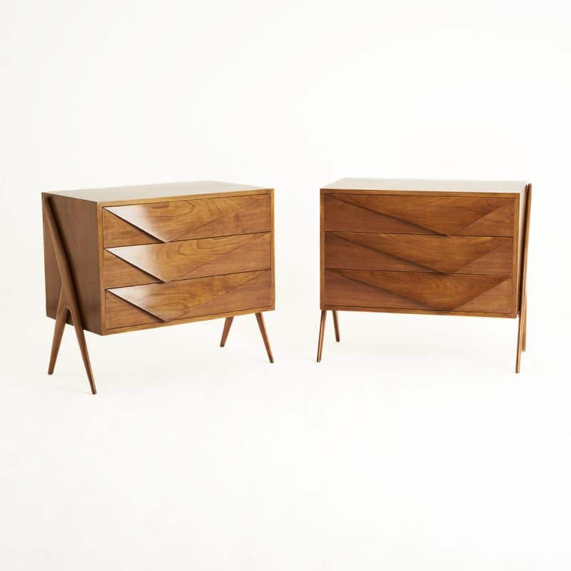 Pair 1960s Italian chest of drawers