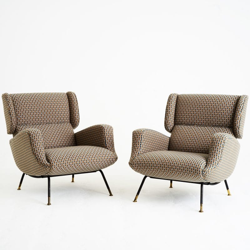 1960s pair Italian chairs