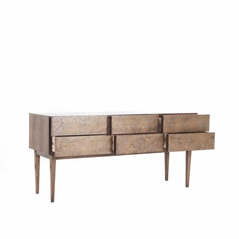1960s Italian sideboard with copper front