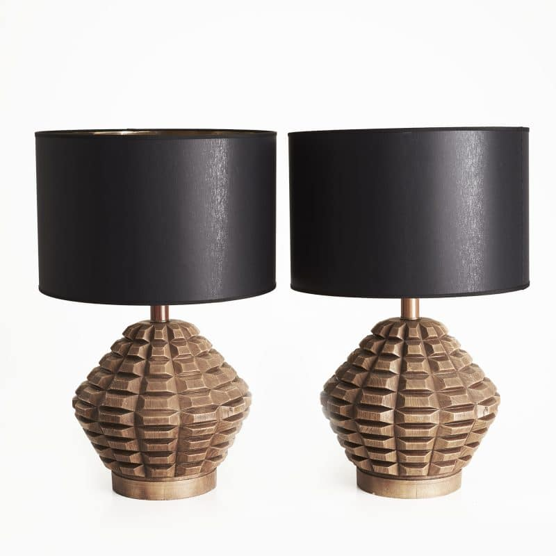 1970s US pair of lamps