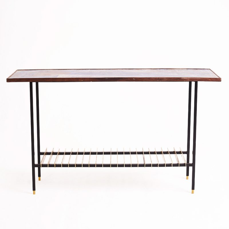 1950s Italian ceramic console table