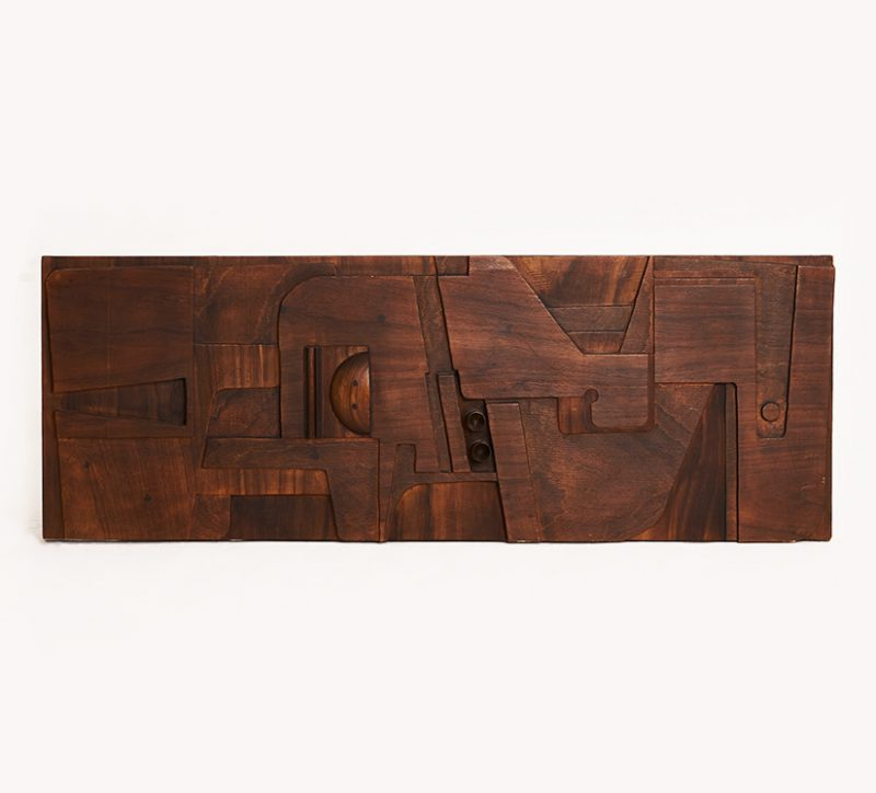 1950s Italian wood panel attributed to Nerone
