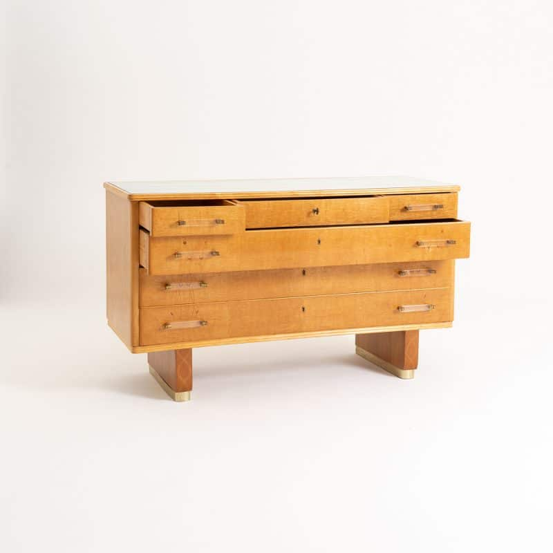 1940s Italian maple chest of drawers
