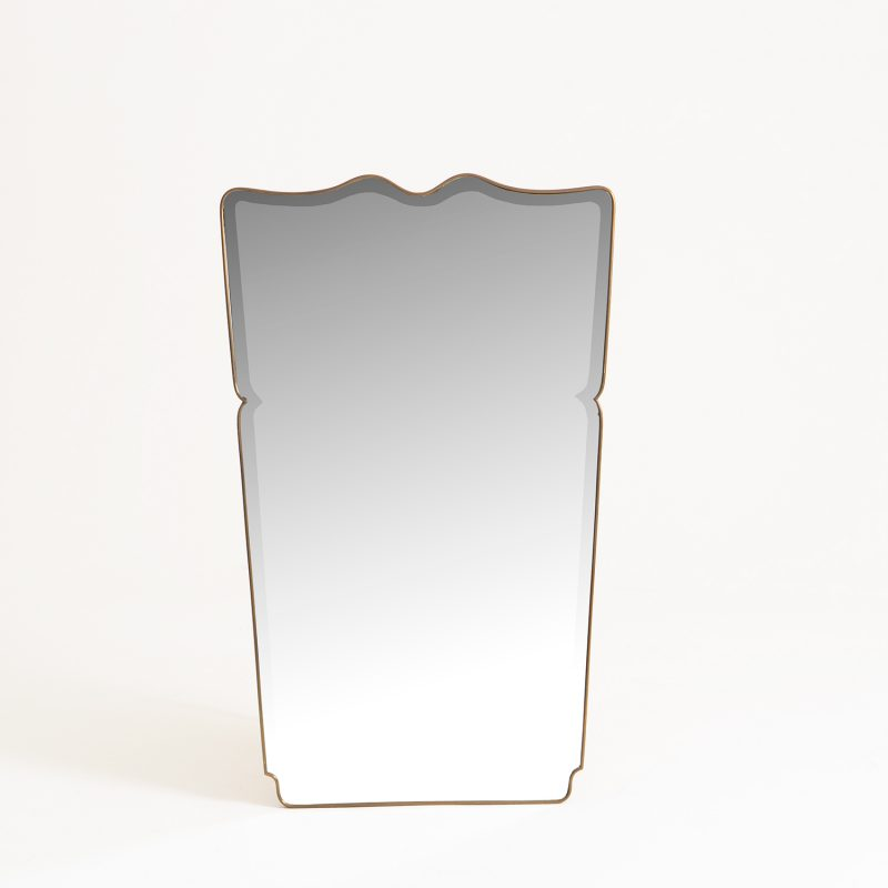 1950s Italian mirror with bevelled glass