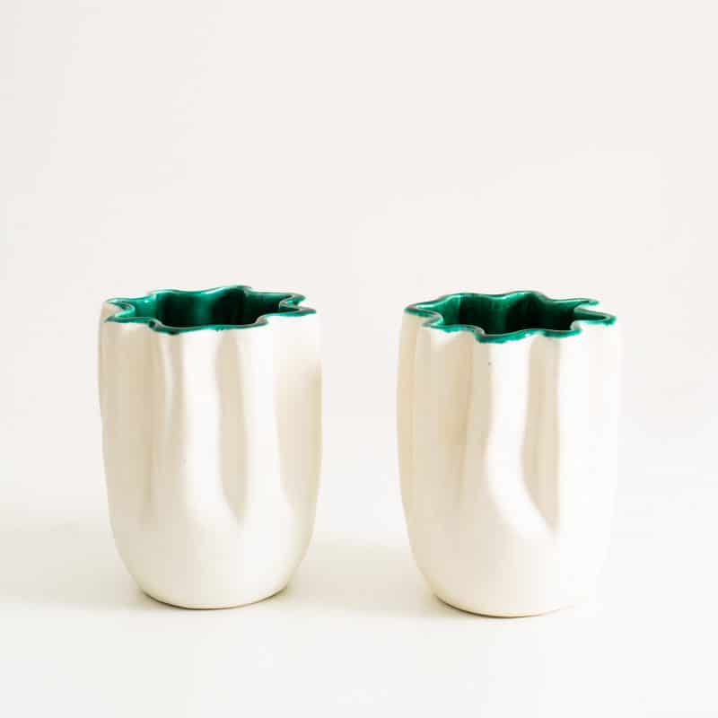 1950s pair of vases